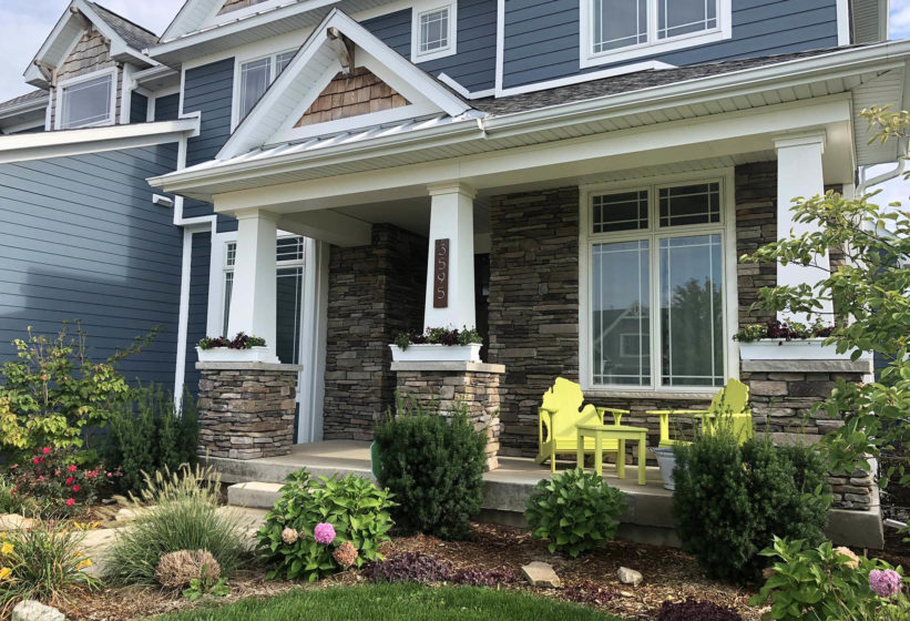 stone home with stones from a landscaping supply store