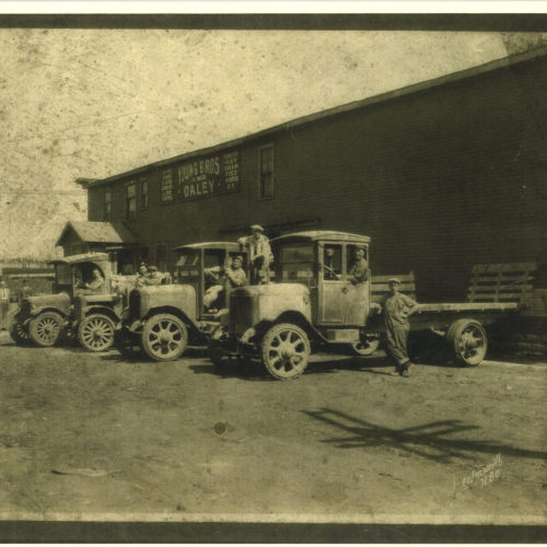 Young Bros & Daley building material supplier old photograph