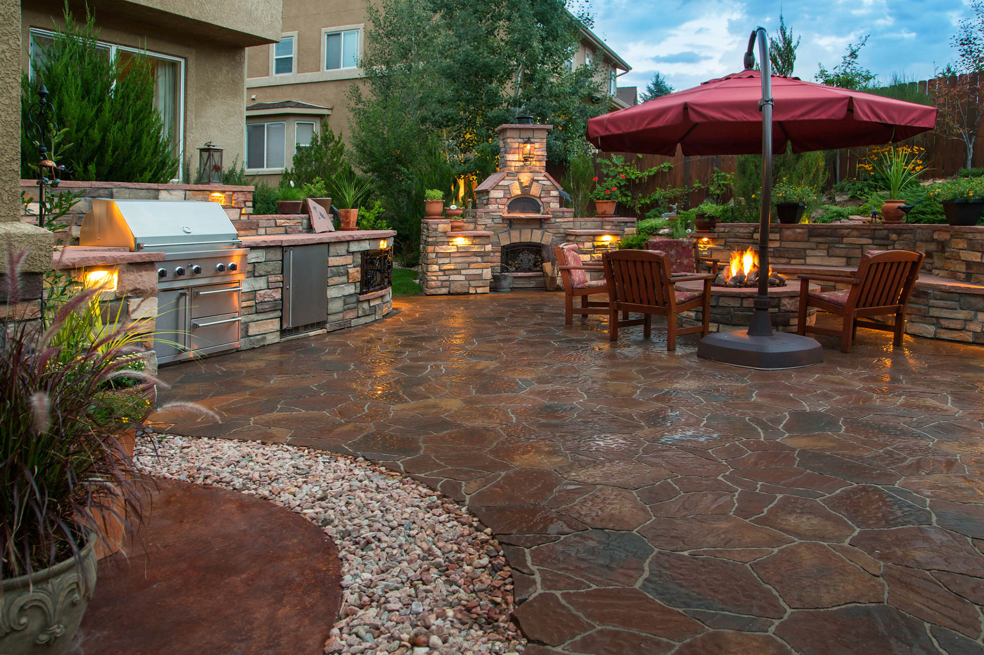 best outdoor pizza ovens and grills on patio display