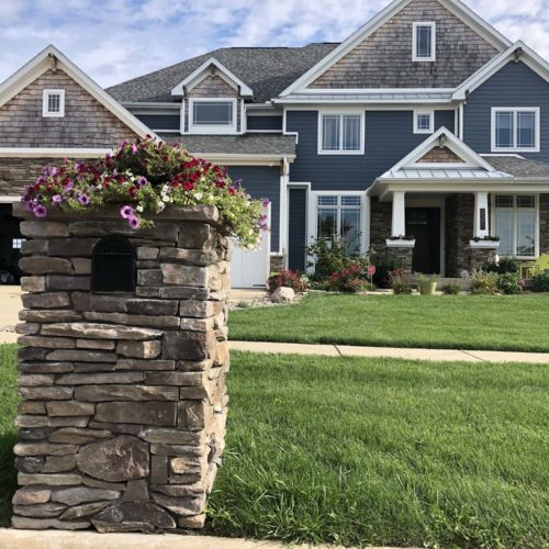 stone on the front of a home from a landscaping supply store