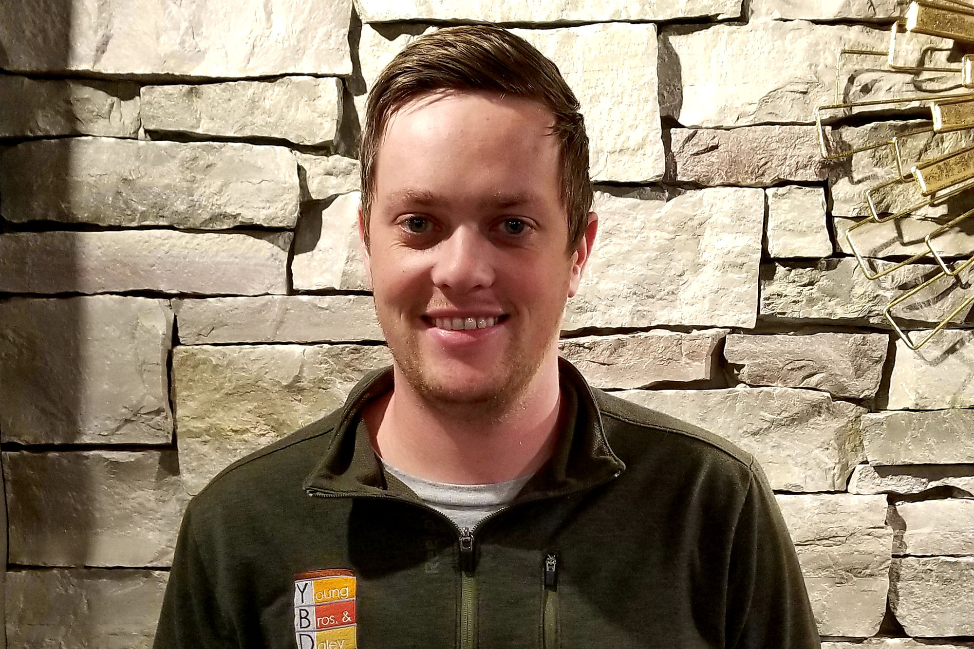landscape supply store employee with YBD shirt on