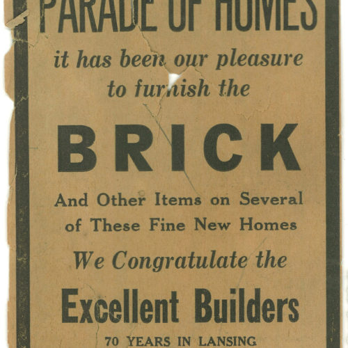 old photograph of young bros & daley sign advertising brick