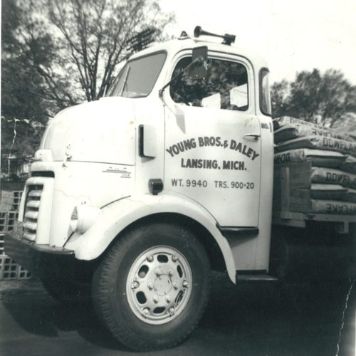 old photograph of young bros & daley truck
