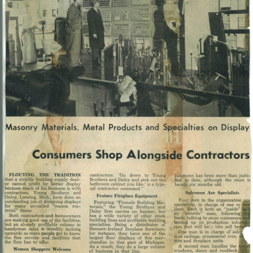 old newspaper clipping of contractors selling brick article