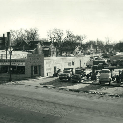 old photograph of building supplies store