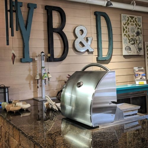 home furnishings store display of kitchen cookware and other decor