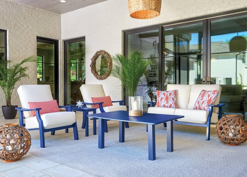 all weather patio furniture display